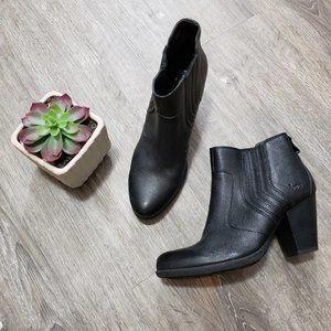 BOC Born Concept * Black Leather Booties * 7.5